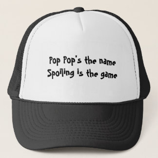 POP POP FATHER'S DAY GRANDPA TRUCKER HAT