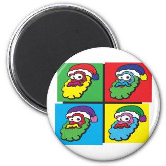 Pop Santa 6 Cm Round Magnet