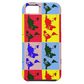 pop style world map iPhone 5 case