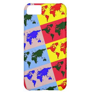 pop style world map iPhone 5C case