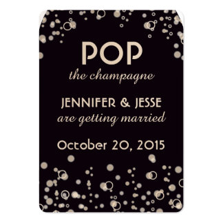 Pop the Champagne - Save The Date Tag Business Card Templates