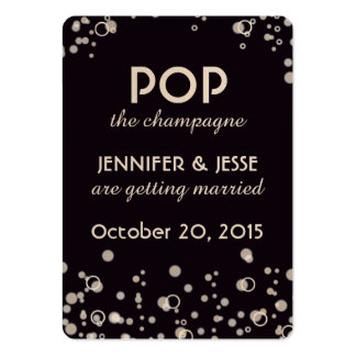 Pop the Champagne - Save The Date Tag Pack Of Chubby Business Cards