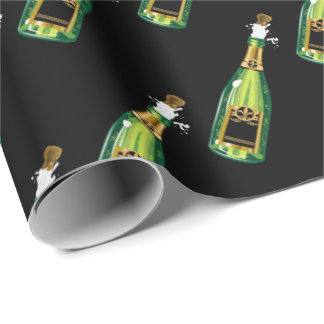 Pop the cork New Years Eve party tiled wrap