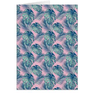 Pop Tropical Leaves Seamless Pattern Series 1 Card