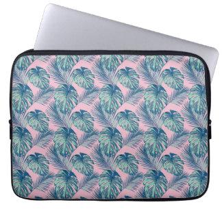 Pop Tropical Leaves Seamless Pattern Series 1 Laptop Sleeve