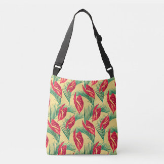 Pop Tropical Leaves Seamless Pattern Series 4 Crossbody Bag