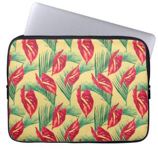 Pop Tropical Leaves Seamless Pattern Series 4 Laptop Sleeve