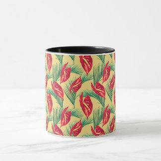 Pop Tropical Leaves Seamless Pattern Series 4 Mug