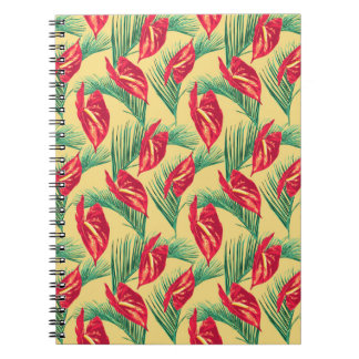Pop Tropical Leaves Seamless Pattern Series 4 Notebook
