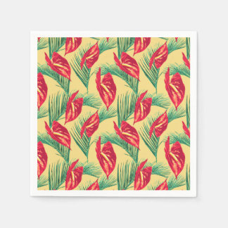 Pop Tropical Leaves Seamless Pattern Series 4 Paper Serviettes