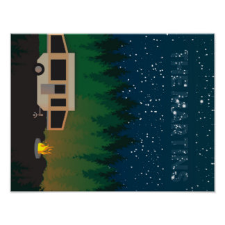 Pop Up Camping Under The Stars- Martin Poster