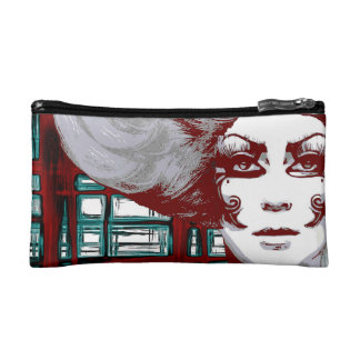 Pop woman in windows Cosmetic  Bag Makeup Bags