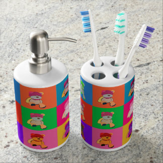 Popart Andy Bear Toothbrush Holder and Dispenser