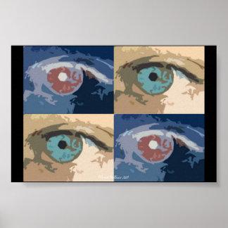 Popart Eyes Poster