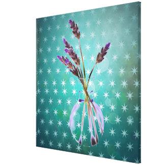 Popart fun glorious lavender flower by healinglove canvas prints