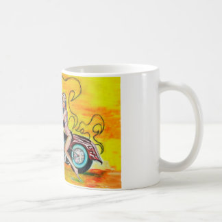 Popart Girl on a Motorcycle Mug