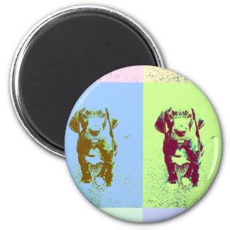 PopArt great dane Puppy 6 Cm Round Magnet