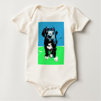 Popart great dane Puppy Calla Baby Bodysuit