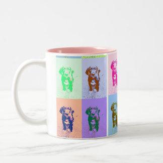PopArt great dane Puppy Two-Tone Mug