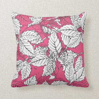 Popart leaves Pink Pillows