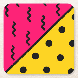 PopArt Pattern Square Paper Coaster