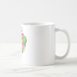 PopArt Pink and Green Hearts Mug