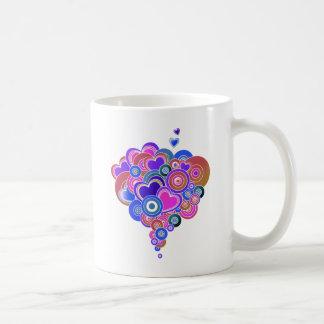 PopArt Purple Hearts Coffee Mug