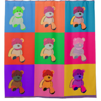 Popart Teddy Andy Shower Curtain