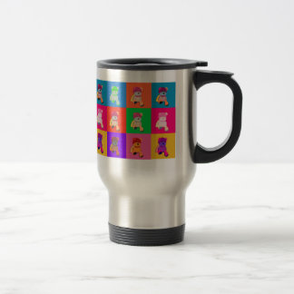 Popart Teddy Bear Stainless Steel   Travelr Mug