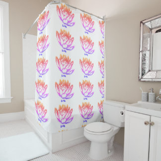 PopArt Water Lily Shower Curtain