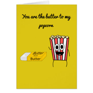 Popcorn and butter card