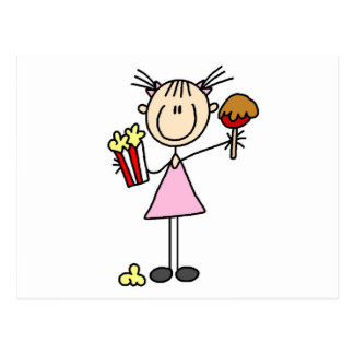 Popcorn and Cotton Candy Tshirts and Gifts Postcard