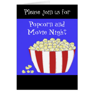 Popcorn and Movie Night Invitation