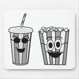 popcorn and soda mouse pad