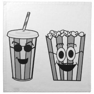 popcorn and soda napkin