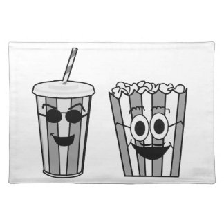 popcorn and soda placemat