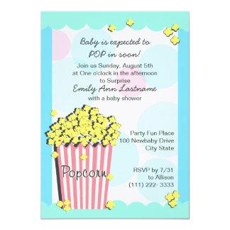 Popcorn Baby Shower 13 Cm X 18 Cm Invitation Card