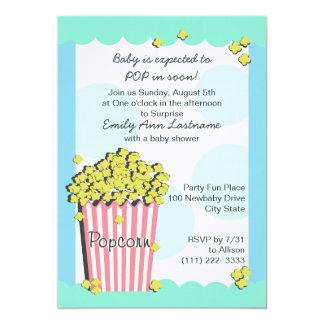 Popcorn Baby Shower Card
