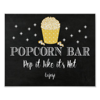 Popcorn Bar Sign - Thanks for Poppin In