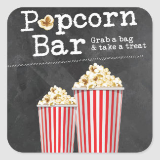 Popcorn Bar Stickers