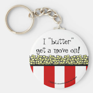 Popcorn Basic Round Button Key Ring