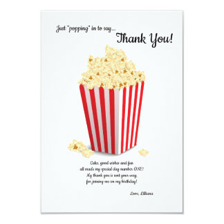 Popcorn Box Thank You Note Card