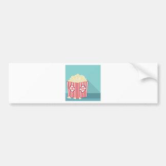 Popcorn bucket bumper sticker