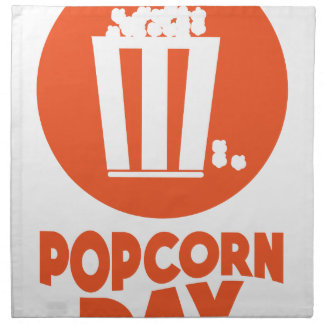 Popcorn Day - Appreciation Day Napkin