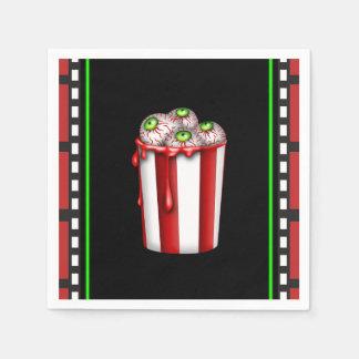 Popcorn Eyeball Halloween Fright Night Party Favor Disposable Serviette