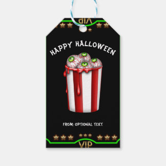 Popcorn Eyeball Halloween Fright Night Party Favor Gift Tags
