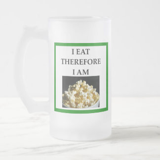 popcorn frosted glass beer mug