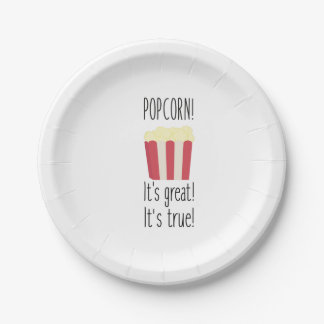 Popcorn! its great Zbzkp Paper Plate