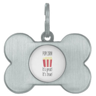 Popcorn! its great Zbzkp Pet Name Tag