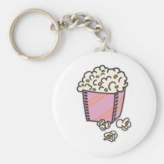 popcorn basic round button key ring